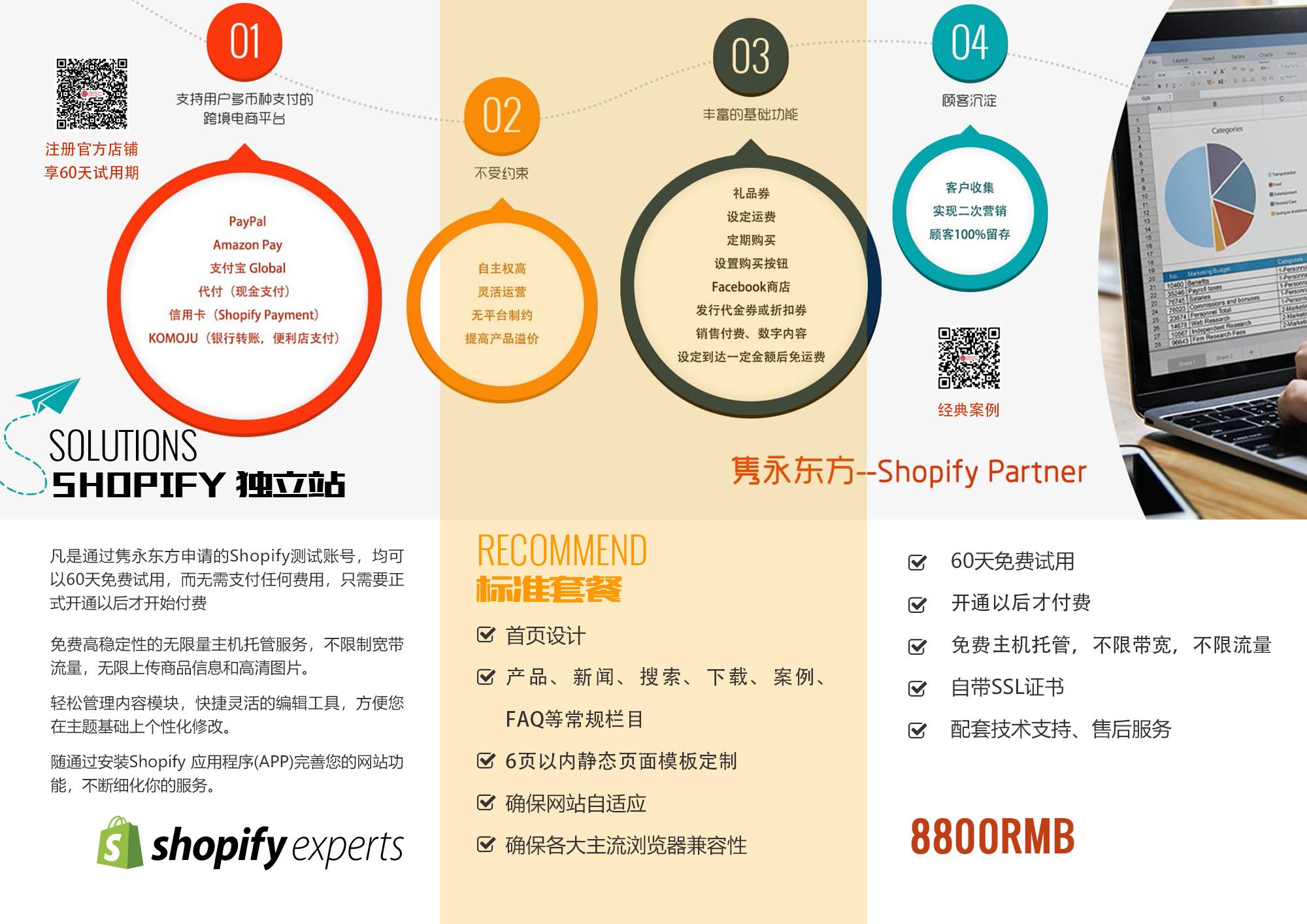 隽永东方 Shopify独立站 8800